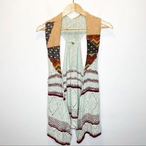 Long Boho Sweater Vest by Gimmicks BKE